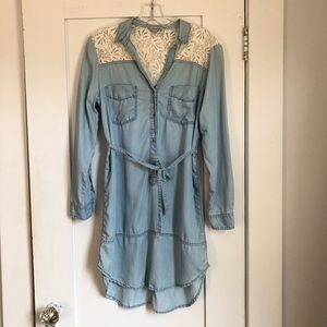 Anthro Holding Horses Soft Denim Shirtdress